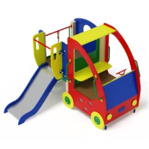 Детский игровой комплекс «Машинка с горкой 1»                                                   2320х2540х1800 h-750