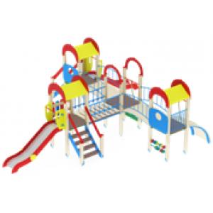 Детский игровой комплекс                           Дворик детства  Горка 1200                                           8000х7120х3000