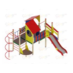 Детский игровой комплекс «Теремок» H=1200  4310х6160х3300