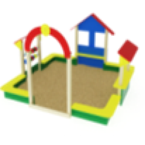 Песочный дворик теремок                                           3280х3200х2000