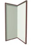 Комплект из двух акриловых зеркал для воздушно-пузырьковой трубки..