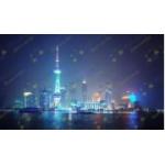 Флуоресцентная фибероптическая картина «Город»..