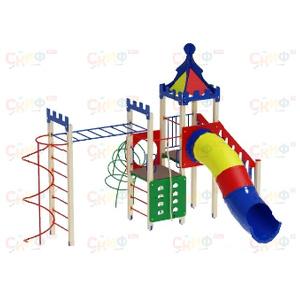 H=1500 Детский игровой комплекс «Волшебный город»  6020х5760х4200