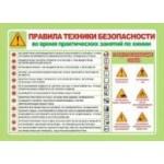 Стенд Правила техники безопасности (химия). Материал ПВХ