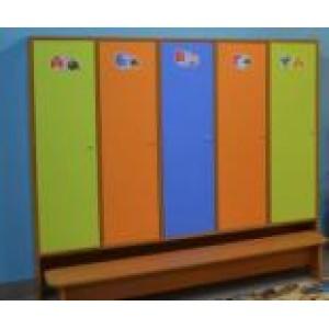 Шкаф для одежды с нишей внизу  4-секц.