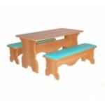 Стол фигурный с 2-мя скамейками    ..