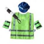 Инспектор ДПС с жезлом и крагами, костюм игровой