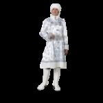 Карнавальный костюм Снегурочка взрослая сатин белая..