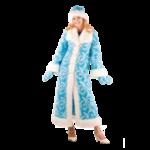 Карнавальный костюм Снегурочка мех взросл...