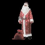 Карнавальный костюм Дед Мороз сатин взрослый..