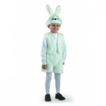Карнавальный костюм Заяц серый, белый, мех.