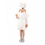 Карнавальный костюм Козочка белая. Мех