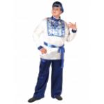 Карнавальный костюм Гжель взрослый.