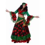 Карнавальный костюм Цыганка красно-зеленая.