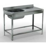 Ванны моечные цельнотянутые с рабочей поверхностью (емкость нерж.сталь AISI 304 )Полностью нержав