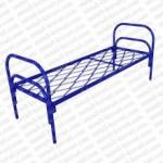 Кровать металлическая одноярусная  сетка прокатная пружина 'КП-4'.  КМ4-2..