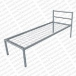 Кровать металлическая одноярусная сетка сварная 100x50мм 'КС-0'  КМ7..