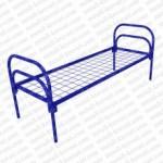 Кровать металлическая одноярусная сетка сварная 100х100мм 'КС-1'  КМ9-3..