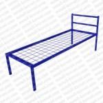 Кровать металлическая одноярусная сетка сварная 100x100мм 'КС-0'  КМ6-2..