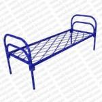 Кровать металлическая одноярусная сетка прокатная пружина 'КП-1'  КМ1-2..