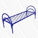 Кровать металлическая одноярусная  сетка прокатная пружина 'КП-2'. КМ2..