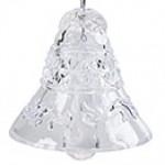 Колокольчик хрустальный серебряный декор