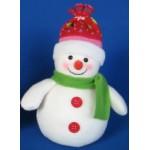 Снеговик со светодиодными лампами..