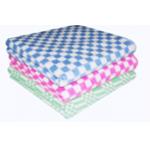 Одеяло 1,5 сп (140*205), байковое, клетка цветная