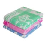 Одеяло детское(100*140), байковое, клетка цветная
