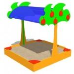 Песочница «Яблонька»              1,9*1,9*2,1