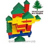 Конструктор детский настольный из дерева СТРОИТЕЛЬ