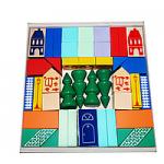 Конструктор детский настольный из дерева «Городок» 61 элемент