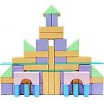 Детский НАПОЛЬНЫЙ  пустотелый конструктор из дерева. Модель КАРАМЕЛЬНЫЙ ЗАМОК