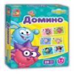 Игра настольная 2105-01 Смешарики Домино