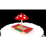 Песочница с крышкой и грибком                                           1220х1320х2100