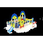 Детский игровой комплекс                            Забота Горка 750                                           7410х8660х3720