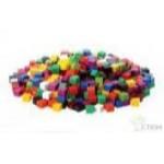Материал счетный кубики 1см. (1 см, 10 цветов, 1000 шт)..