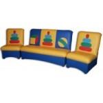 Комплект мягкой мебели «Мечта» с  аппликацией (пирамидки, бабочки)