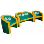 Комплект мягкой мебели «Луна» Ромашки