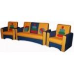 Комплект мягкой мебели «Сатурн-2» с  аппликацией Пирамидки