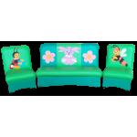 Комплект мягкой мебели «Мечта» с аппликацией Лунтик
