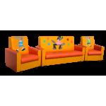 Комплект мягкой мебели «Сатурн-2» с аппликацией            Ну погоди