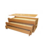 Кровать 3-х ярусная выкатная  с  крышкой  ( цвет по желанию)1470*690*720