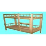 Кровать детская  двухъярусная Лапушка Массив, лак, ложе фанера 8мм   124/134/144*64*1400..