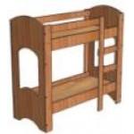 Двухъярусная детская кровать ЛДСП 1200/1400*600*1400..