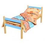Кровать детская СТАНДАРТ (окрашенны планки)   Массив, лак, ЛДСП, ложе фанера 8мм   h –124/134/144*64..