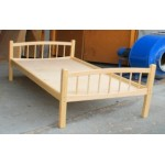 Кровать детская Лапушка  Массив, лак, ложе фанера 8мм h –124/134/144*64..