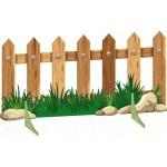 Декорация Забор с травой и камешками