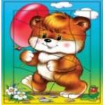 Дрофа РР 1185 Воздушный шарик (Медвежонок) (криволин. разр. ) 10эл...