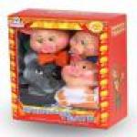 Кукольный театр 4 персонажа с ширмой..